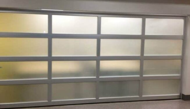 sectional aluminum glass door
