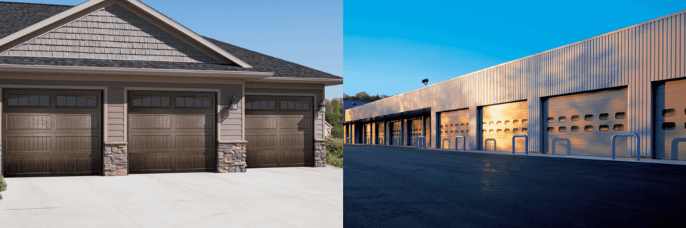 residential garage door and commercial garage door