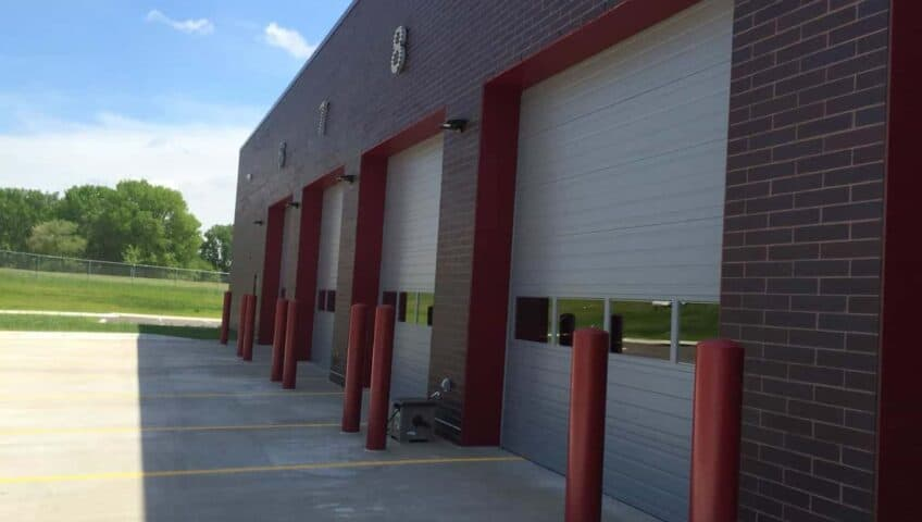 Sectional Steel Garage Door at Bayport Fire Station