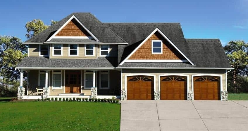 Traditional Wood Residential Garage Door