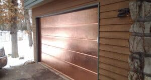Solid Copper Garage Door