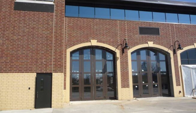 bi-fold garage doors at minnesota fire station