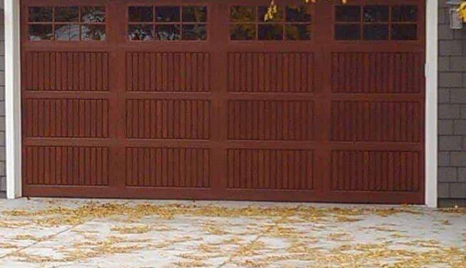 Wood Look Fiberglass Garage Door