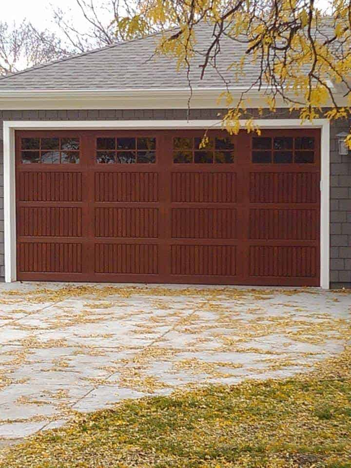 Wood Look Fiberglass Garage Door