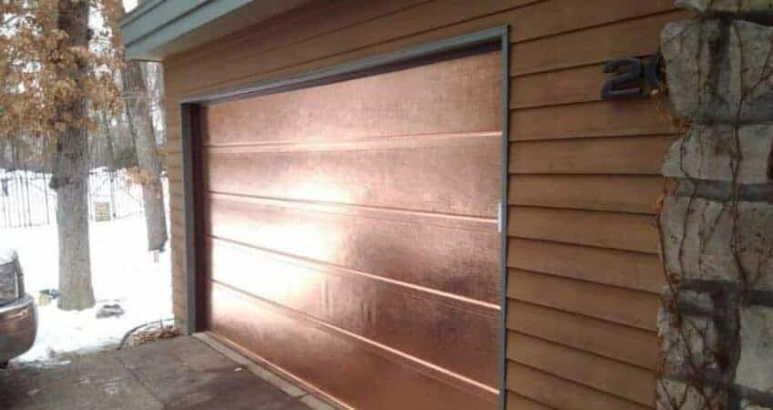 custom copper garage door