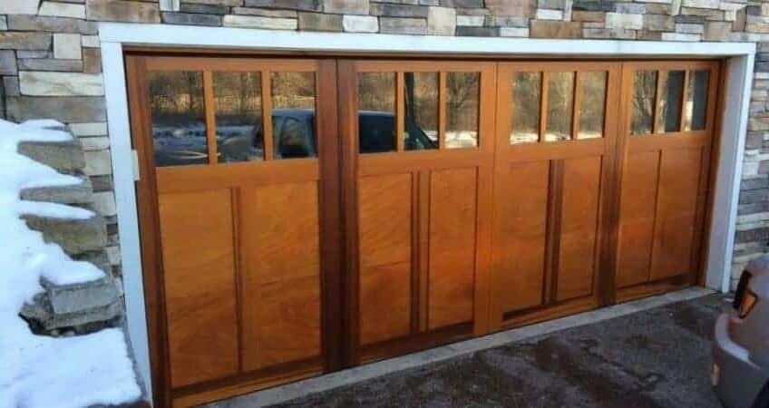 residential wood garage door