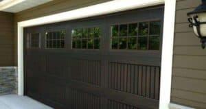 Fiberglass Garage door with narrow slates