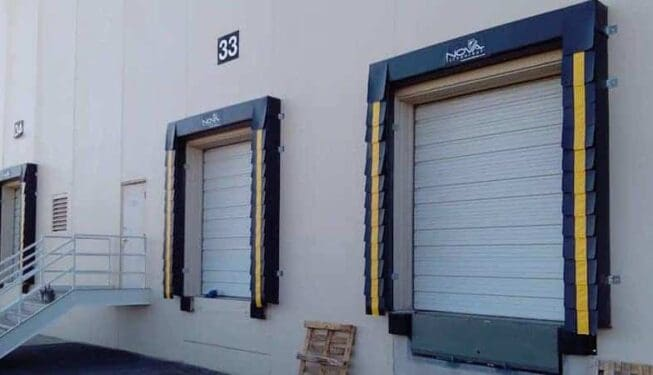 Dock seals and sectional door