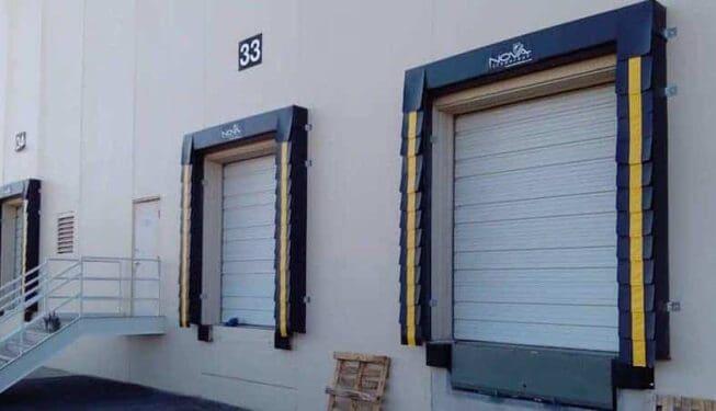 Dock seals and sectional door