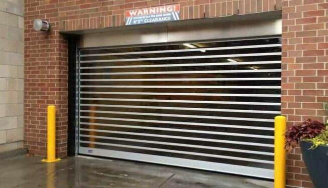 full-vision high speed garage door