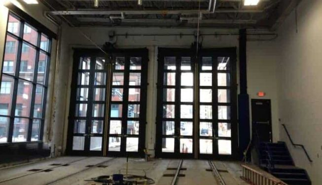 Bi-Fold Doors installed at the St. Paul Light Rail Station