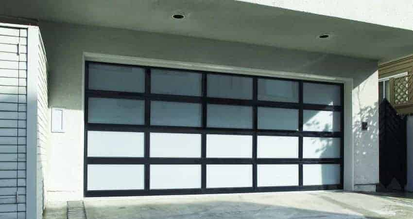 modern aluminum garage door