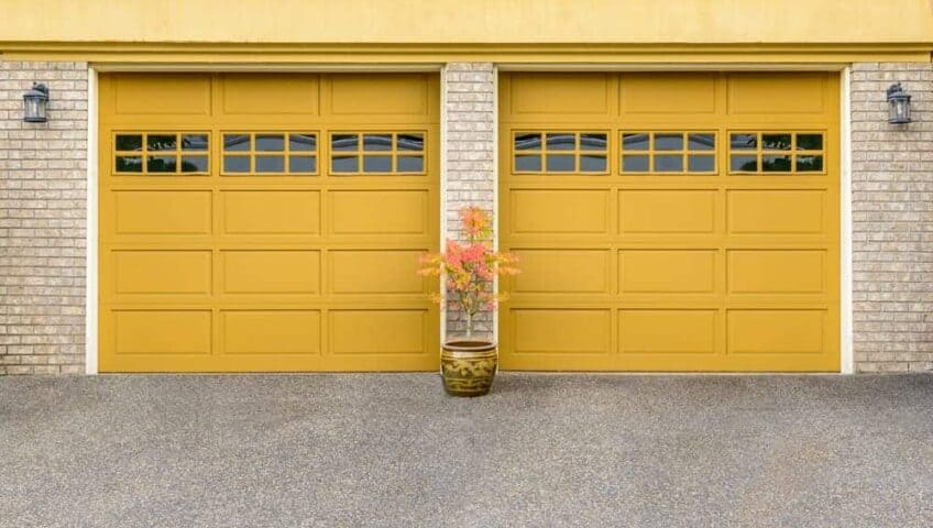 yellow garage doors