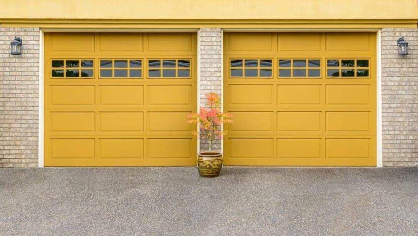 yellow garage doors