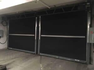 High Cycle Rubber Doors at the PWC Plaza Parking Garage