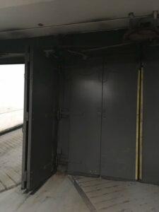 PCW Plaza's bi-fold parking garage doors