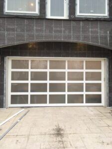 Modern Aluminum Garage Door Install in St. Louis Park