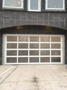 Modern Aluminum Garage Door Install in St. Louis Park