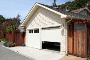 open garage door in Eagan, MN goes against preventing home burglaries