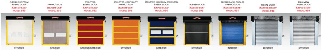 9 models of high speed doors