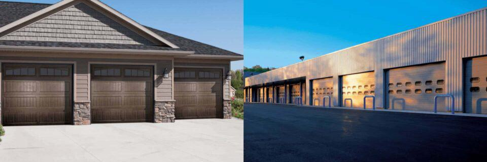 residential garage door and commercial garage door